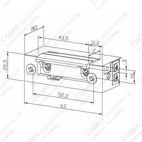 Електромеханічна защіпка ES1-005