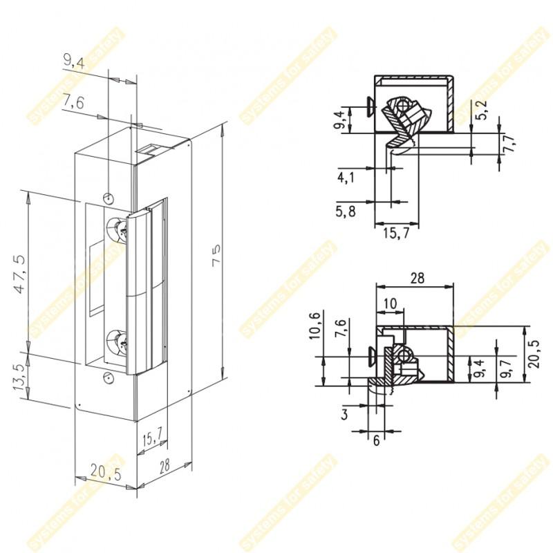 Зачіпка електромеханічна E7-D1
