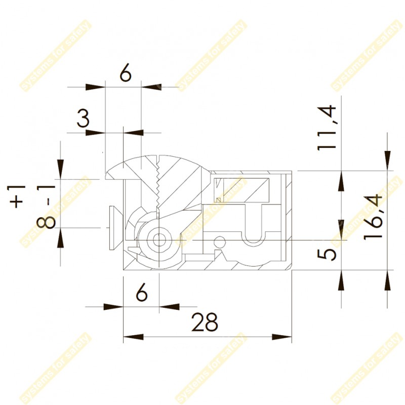 Электромеханическая защелка 41NDF412