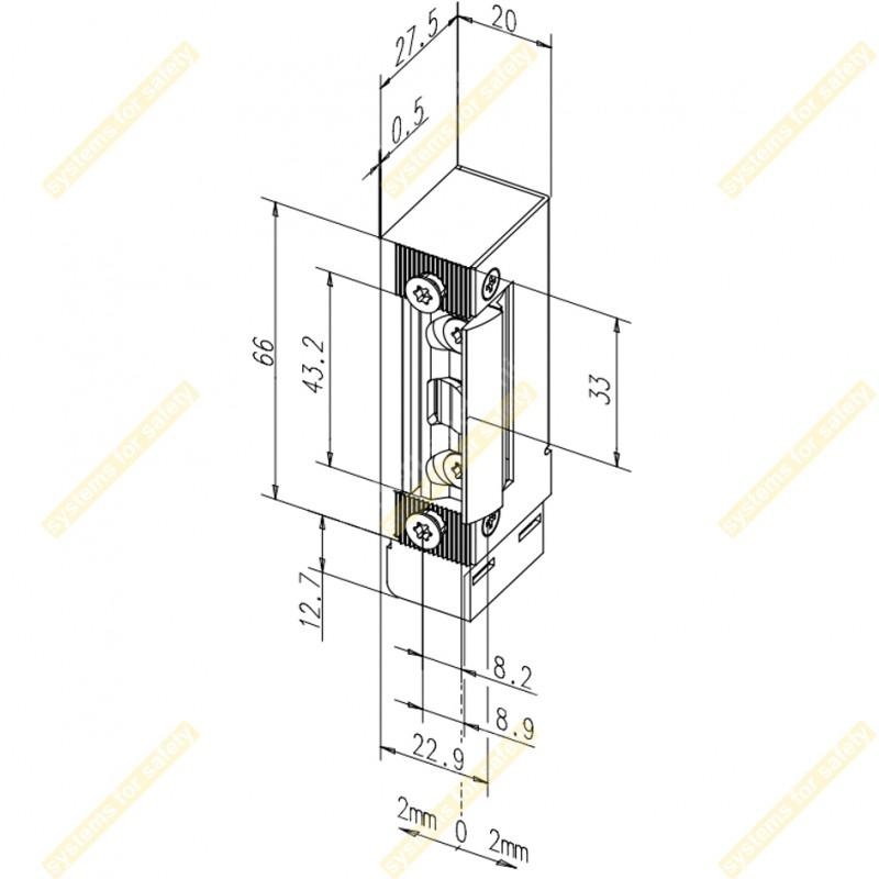 Кнопка виходу PBK-814C(LED)