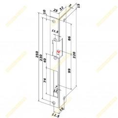 Електроригельний замок YB-500C LED