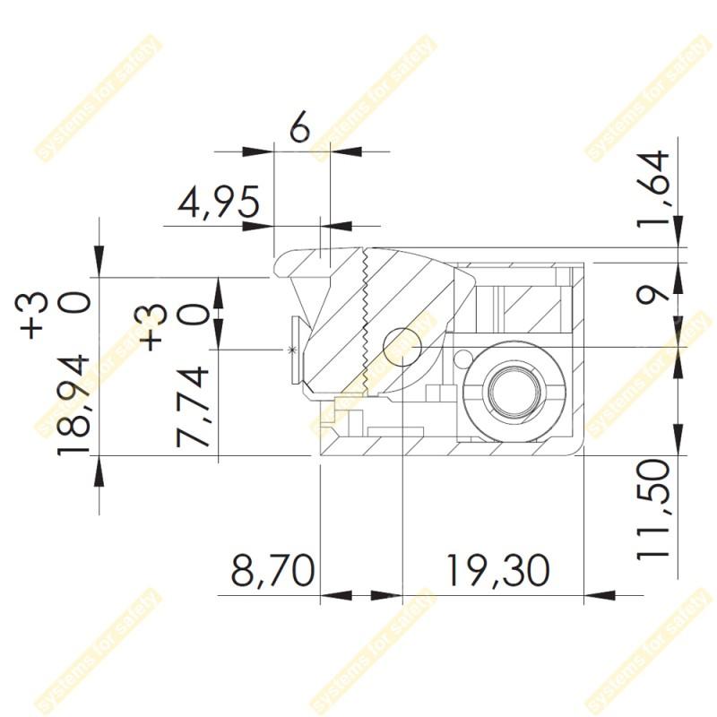 Зачіпка електромеханічна 54NDF412