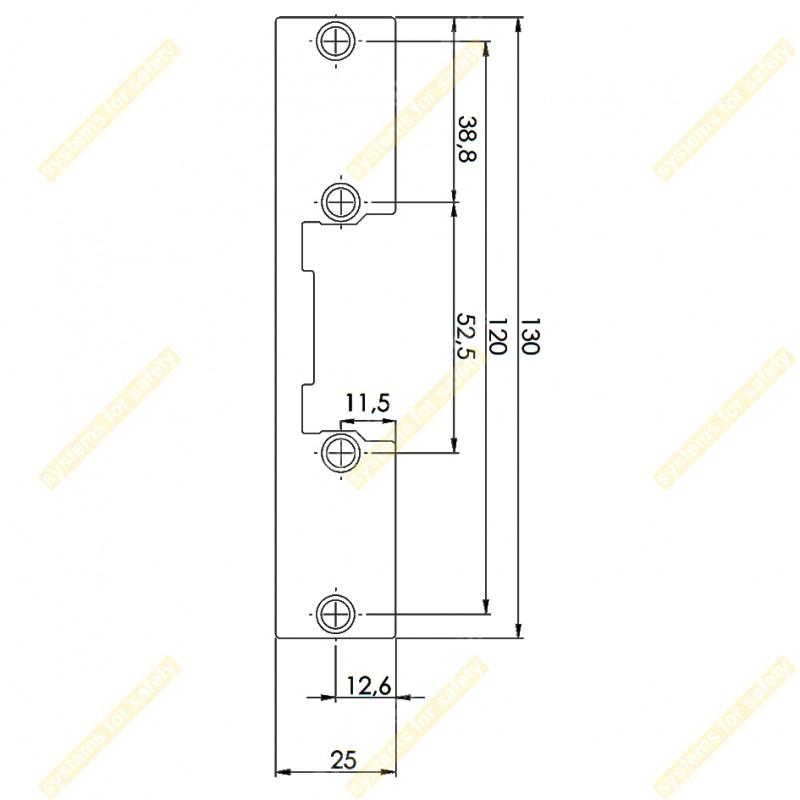 Планка коротка пласка DORCAS P (12)