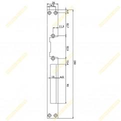 Длинная плоская планка  DORCAS L (23)