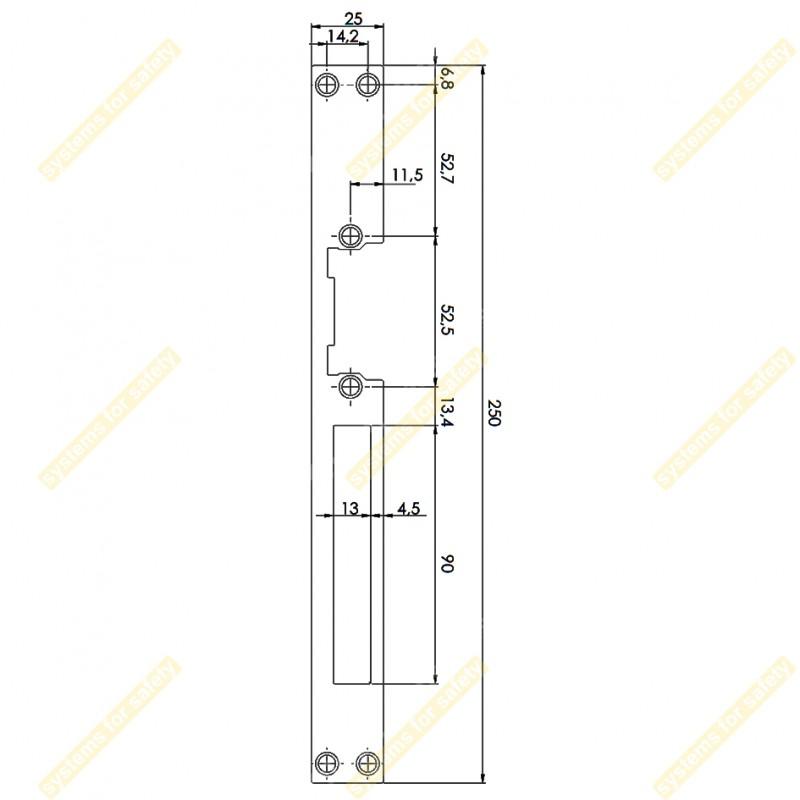 Планка довга пласка DORCAS L (23)