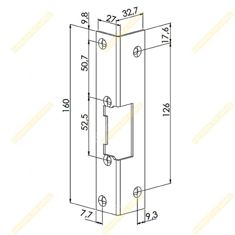 Короткая угловая планка DORCAS F53 (16)