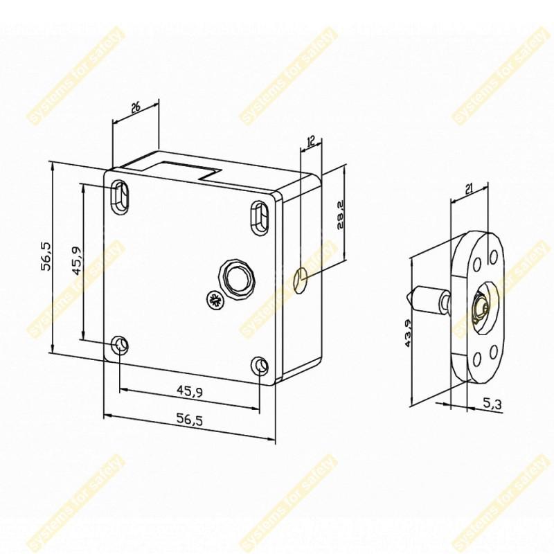 Электрозамок для шкафов PU12U