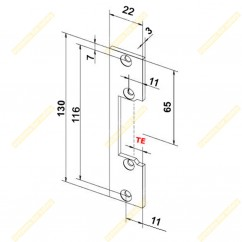 Короткая плоская планка OK-XS1