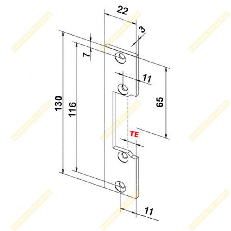 Планка коротка пласка OK-XS1